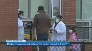 Teachers react to Ontario's funding announcement to help transition to in-person classes amid the pandemic (03:47)
