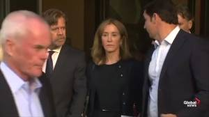 Felicity Huffman departs courthouse following sentencing