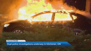 OPP investigating possible connection between fatal shooting and burning vehicle in Kitchener