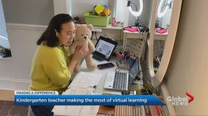 Toronto kindergarten teacher making the most of virtual learning (03:09)