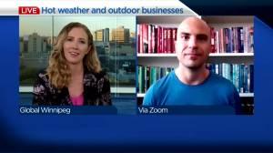 Winnipeg landscaping company on warm September weather (04:35)