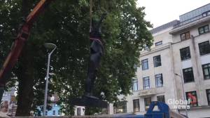 Statue of Black Lives Matter protester removed in Bristol after one day (02:54)