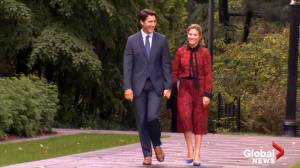 2019 Federal Election: Justin Trudeau walks into Rideau Hall to speak with the Governor General