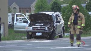 Two-vehicle crash in Peterborough's south end