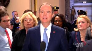 "Schiff says impeachment trial rules ""nothing like Clinton"""