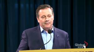 Kenney says he will look at comments by Alberta Justice Minister Kaycee Madu (01:11)