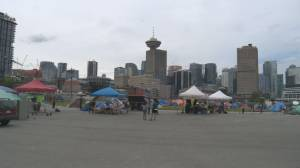 Residents of Vancouver's CRAB Park tent city fight eviction