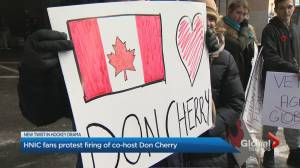 Protestors call for Sportsnet to reinstate HNIC co-host Don Cherry