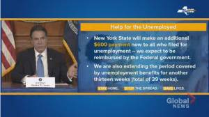 Coronavirus outbreak: New York gives additional $600 dollars for unemployment benefits