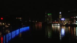 Light display marks anniversary of fall of Berlin Wall