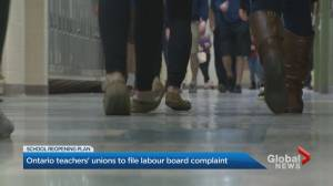 Ontario teachers' unions taking legal action against provincial government (02:29)