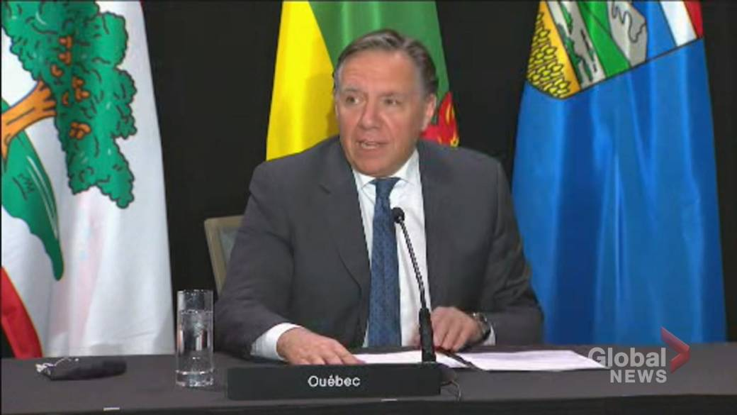 Click to play video 'Coronavirus: Legault lays out three requests from Canada's premiers to the federal government'