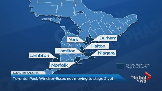 More Ontario Regions To Enter Stage 2 Of Reopening Friday Toronto Peel Windsor Still Excluded Globalnews Ca