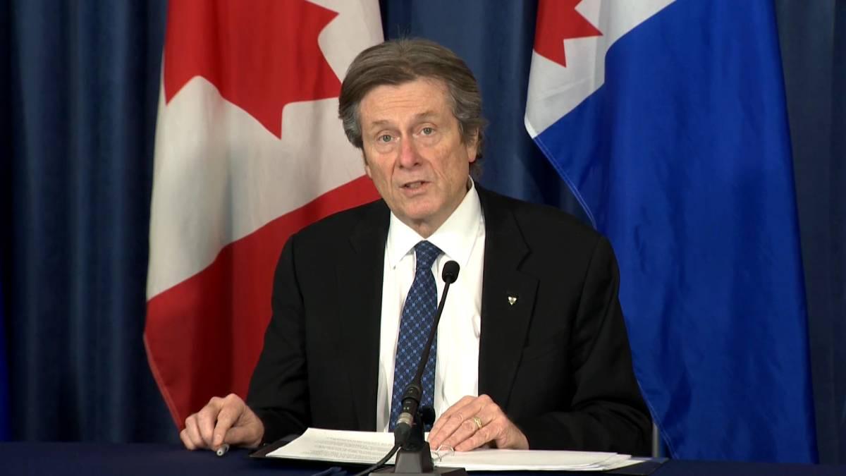 Click to play video: 'Coronavirus: Mayor Tory supports moving Toronto back into grey-lockdown level'