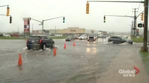 Heavy rainfall from Ida hits the Maritimes (01:43)