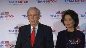 U.S. election: Mitch McConnell says Kentucky is 'keeping our front row seat' in the Senate (00:41)
