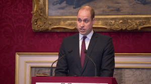Prince William speaks At United For Wildlife event