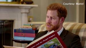 Prince Harry introduces 'Thomas & Friends' in celebration of the cartoon's 75th anniversary (01:25)