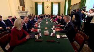 UK PM Boris Johnson welcomes new cabinet after reshuffle