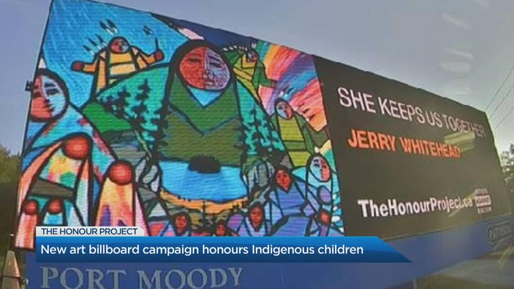 Click to play video: 'New billboard campaign honours residential school victims'
