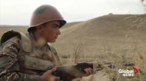 Armenian leader reports intense fighting on line of contact (01:47)