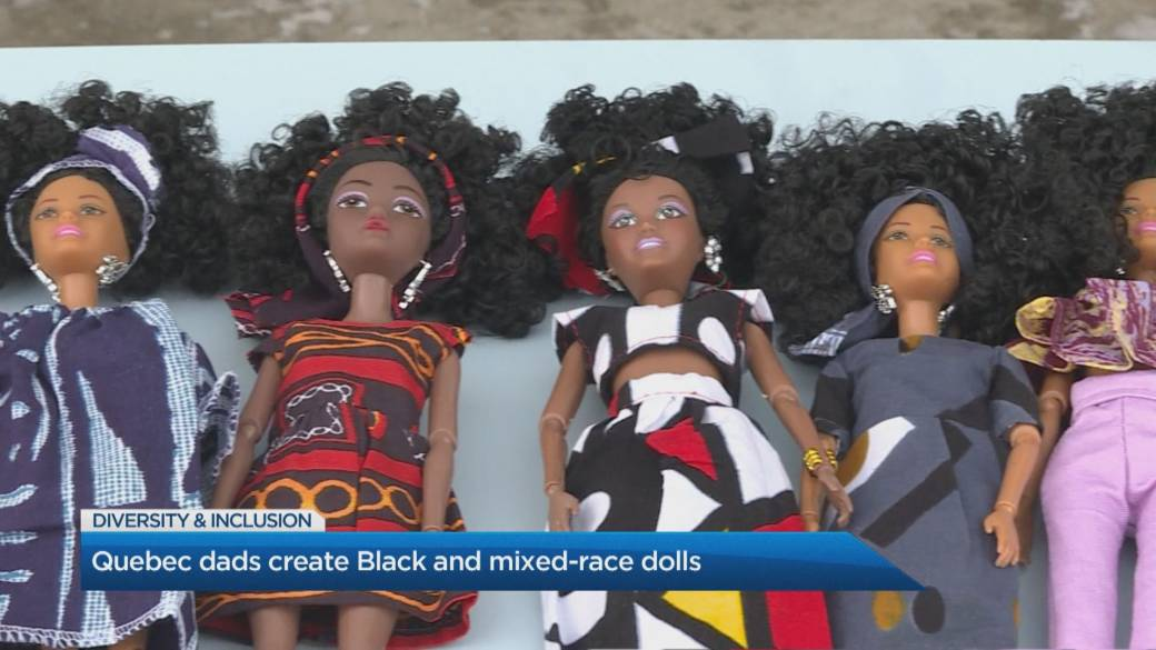 Click to play video 'Quebec dads tackle lack of diversity in toys with Black and mixed-race dolls'