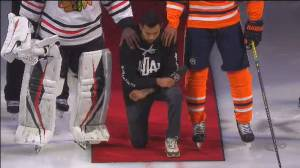 Canadian NHL player Matt Dumba becomes 1st to take knee during U.S. anthem
