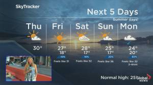 Global News Morning weather forecast: August 13, 2020