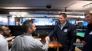 Federal Election 2019: Scheer meets with Toronto residents at local pool hall