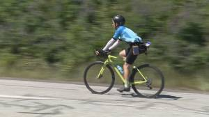 B.C. cyclist 'triple Everesting' the North Shore Mountains (01:14)