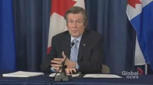 Toronto Mayor John Tory on working with Vaccine Hunters Canada to share vaccine information (02:41)