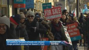 All Ontario public schools close ahead of massive planed protest