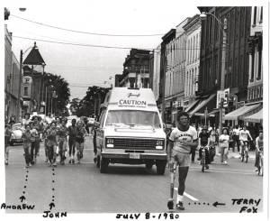 40-year anniversary of Terry Fox's Marathon of Hope coming through Peterborough