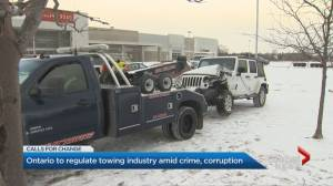 Ontario government aims to crack down on organized crime in towing industry (02:06)