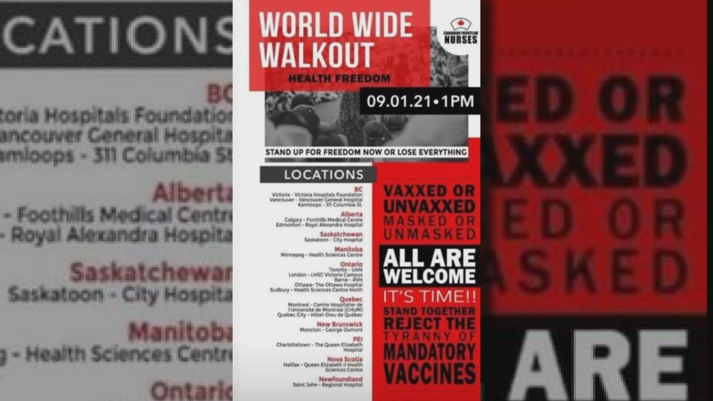 Click to play video: 'Ant-vaccine passport groups plan protests outside hospitals'