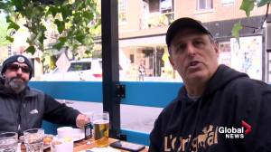 Montrealers celebrate return of outdoor dining as COVID-19 restrictions ease (01:56)