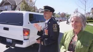 Former Surrey fire chief receives support in ALS battle (02:06)