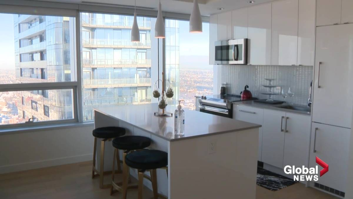 Click to play video: '12 floors of Stantec Tower in downtown Edmonton converted to rental suites'