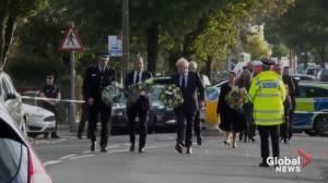 U.K.'s Boris Johnson pays tribute to slain MP (01:23)
