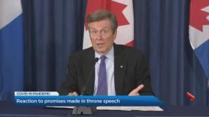 Throne speech reaction in Toronto