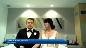 Local couple doesn't let COVID-19 interrupt wedding (01:23)