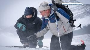 Greta Thunberg visits receding Athabasca Glacier