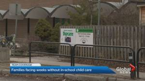 Daycare community questions why they weren't part of Ontario government's initial order to close schools (01:45)