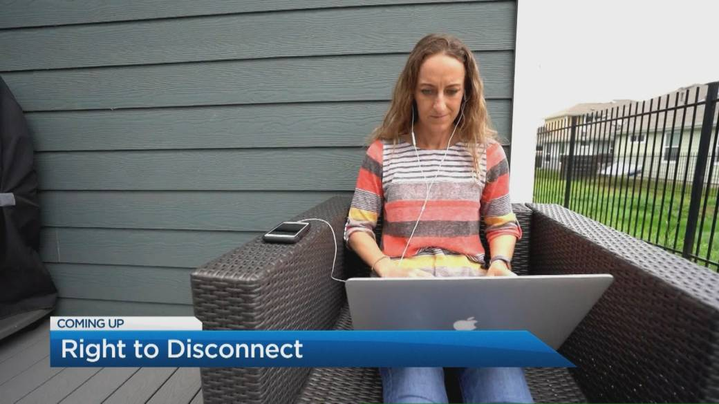 Click to play video: 'Labor Minister Calls for' Right to Disconnect 'in Work-from-Home Policy'