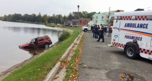 SUV crashes into Little Lake in Peterborough