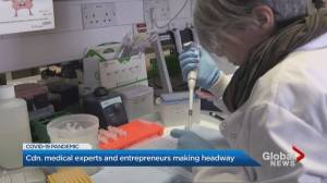 Canadian health experts and entrepreneurs make strides in the fight against COVID-19 (01:50)
