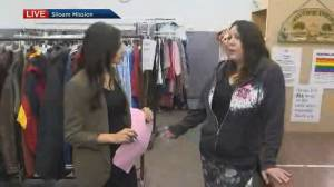 Global News Morning Winnipeg goes behind the scenes to tour Siloam Mission's clothing room