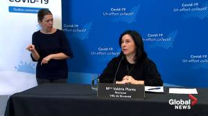 Coronavirus: Mayor Valérie Plante addresses homeless situation in Montreal amid curfew (04:48)