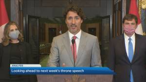 Looking ahead to next week's throne speech