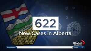 Record-setting 622 new COVID-19 cases reported in Alberta Friday (02:36)